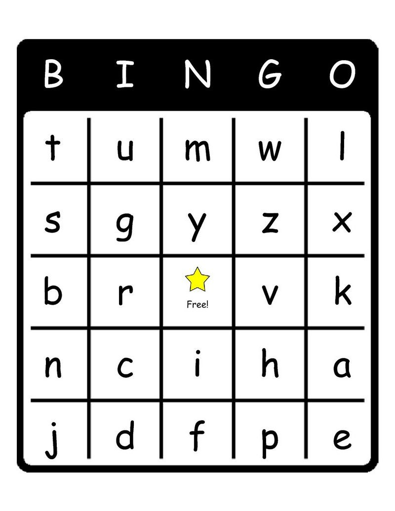 Légend image within letter bingo printable