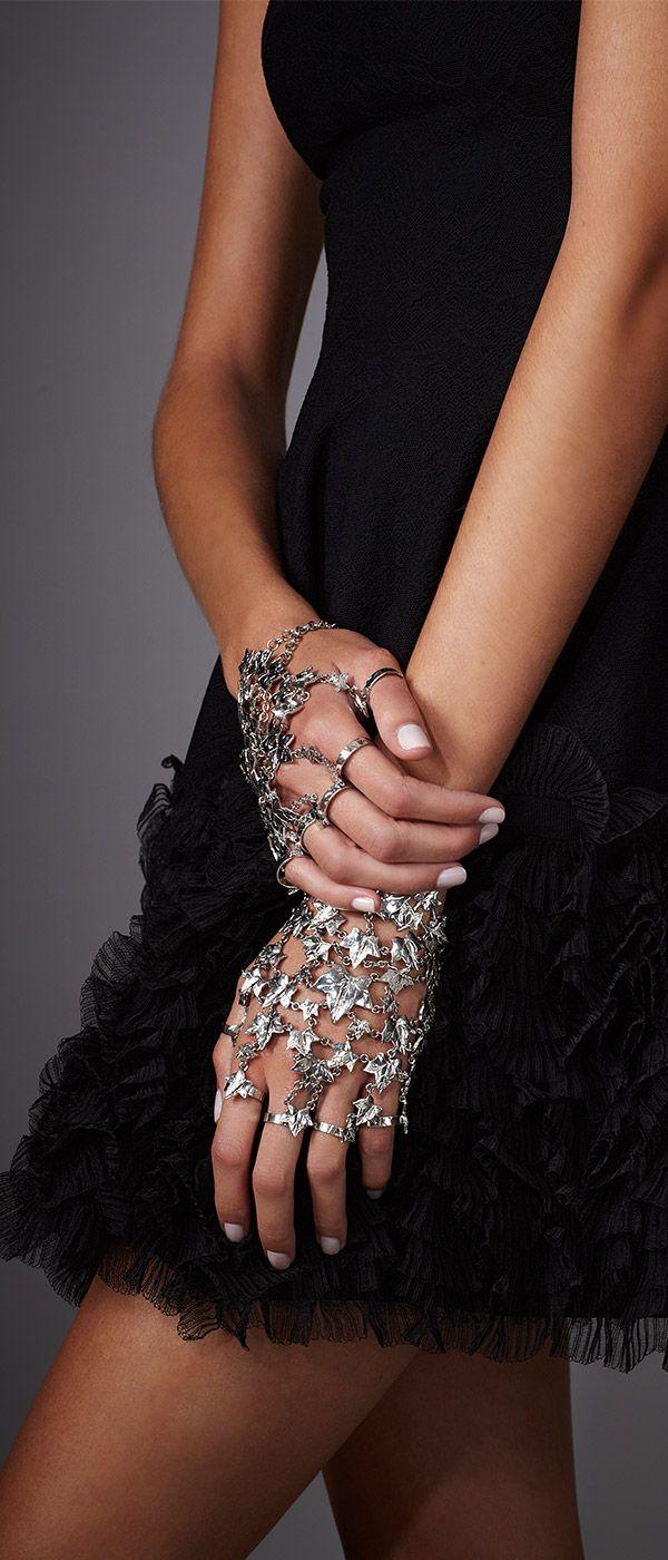 Arm yourself with Alexander McQueen's eye-catching 'Ivy' Bracelet Set.