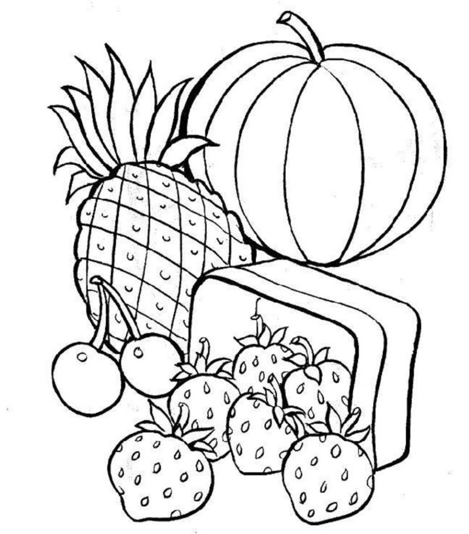 colouring sheets Healthy Food Coloring Pages Food