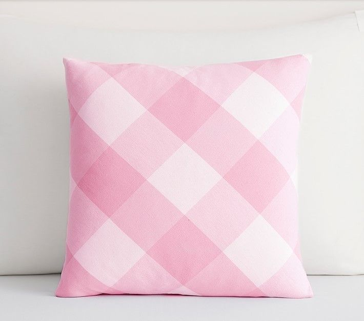 Pottery Barn Pillow Inserts Mesmerizing Gingham Canvas Sham 16X16 Light Pink  Pillow Inserts Canvases 2018