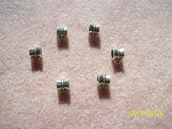 6mm Silver Alloy Bails by GetStoneCreations on Etsy