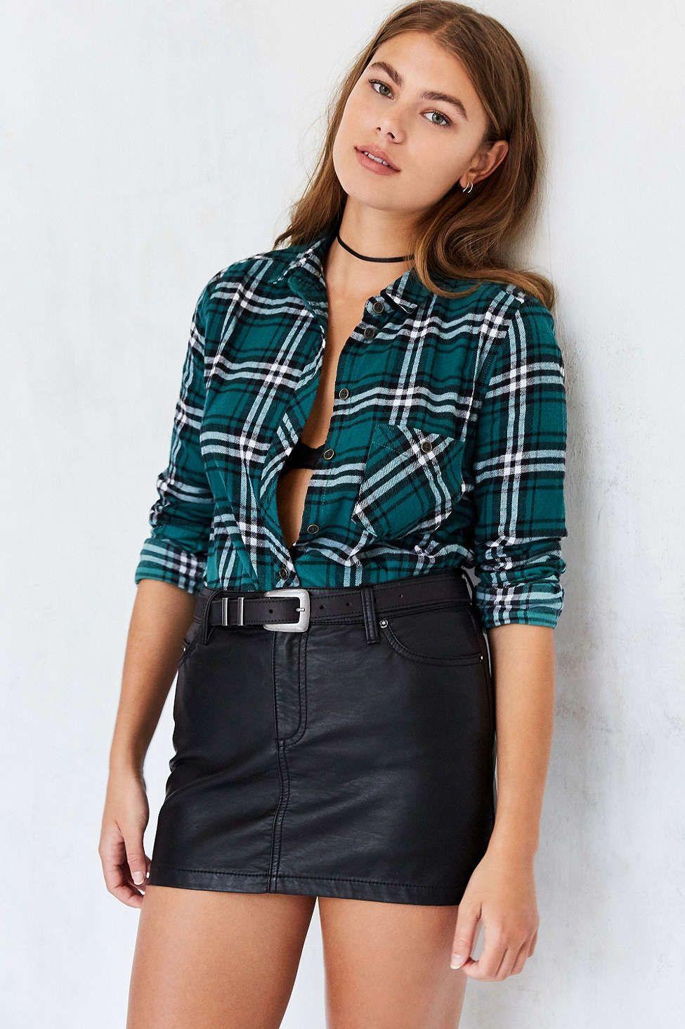 Flannel shirt with shorts   BDG Polly Flannel ButtonDown Shirt  uCLOTHESu  Pinterest