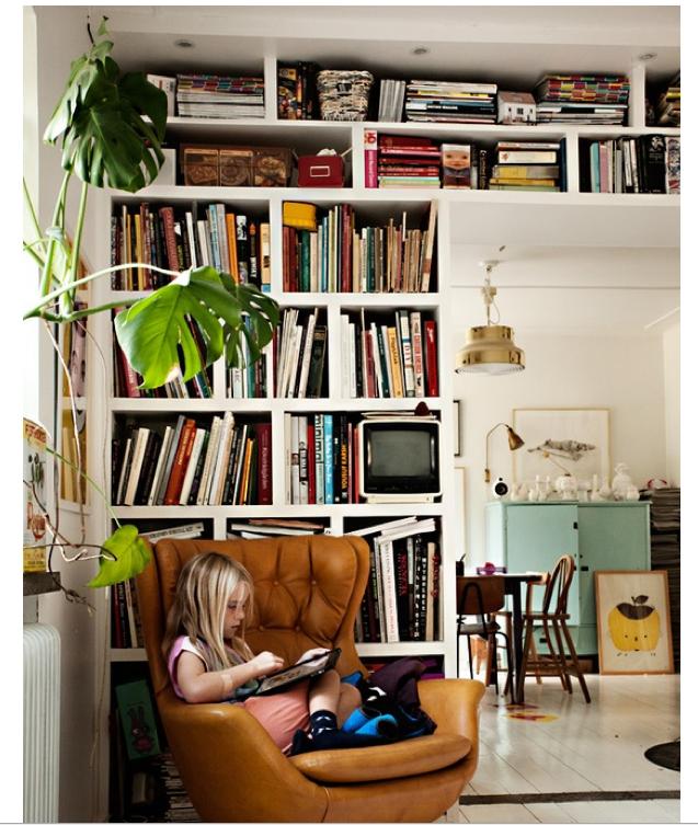 Messy Living Room: General Shelving