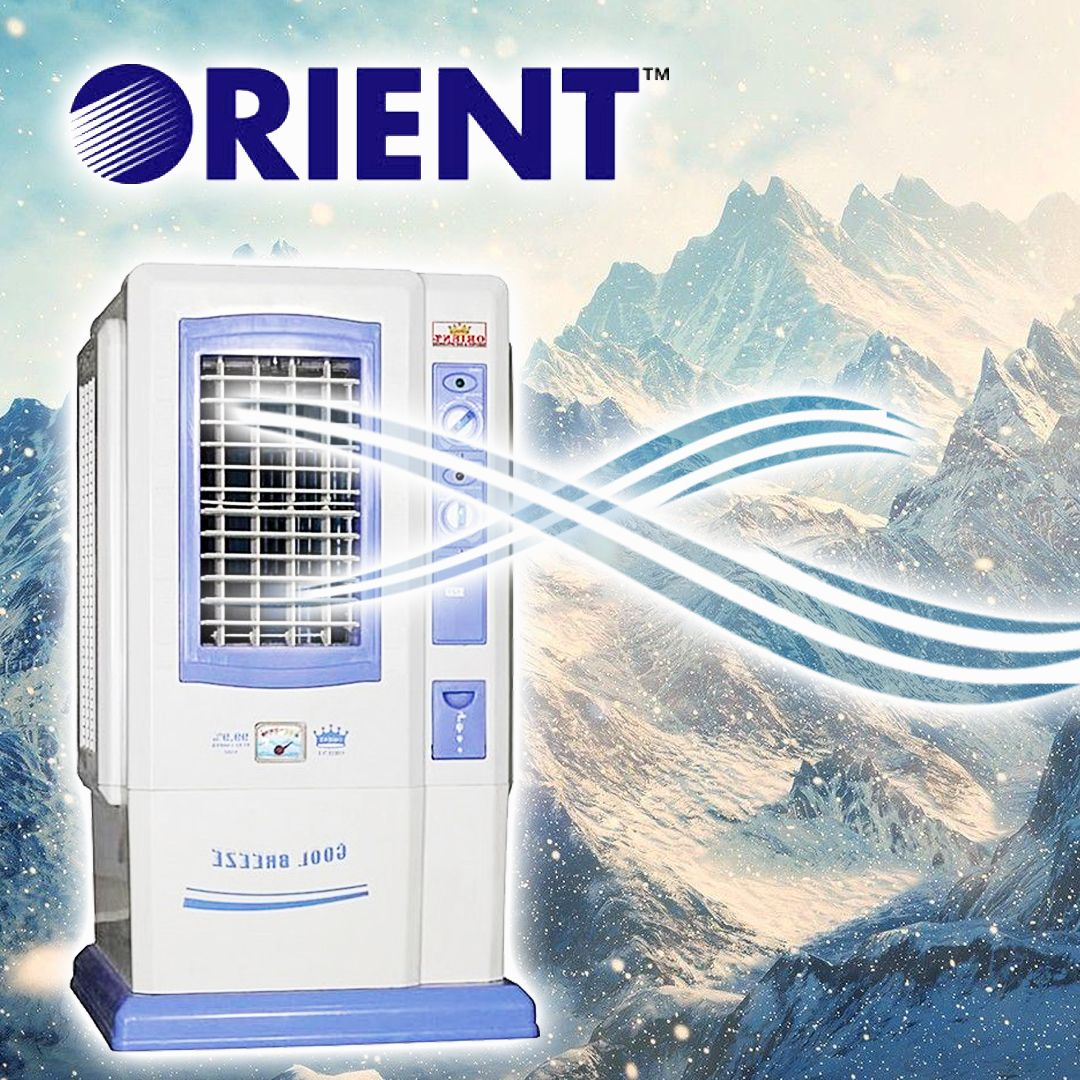 Orient Room Air Cooler 525 Tower Ice Box Rs 11999 Order Now Delivery All Over Pakistan Room Air Cooler Air Cooler Water Design