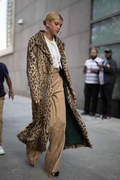 sofia richie is seen attending oscar de la renta during new york fashion week wearing a