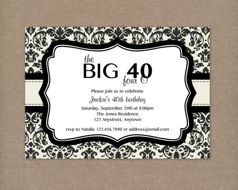 Nice 40th Birthday Party Invitations Free Templates