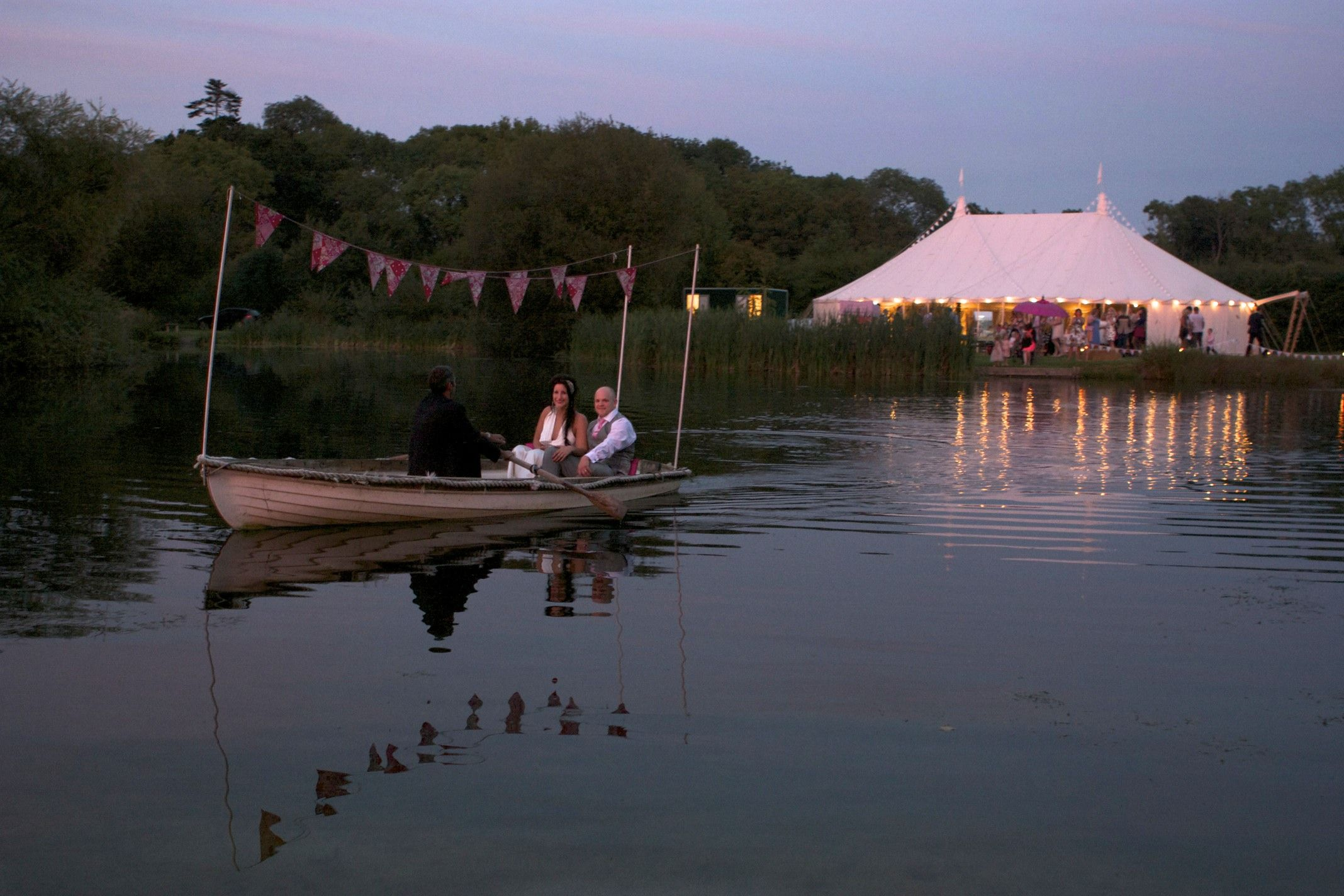 Rosie The Rowing Boat At Dusk Duncton Mill Wedding Reception Venue