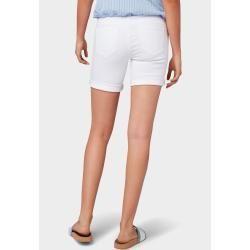 Photo of Sommerhose für Frauen –  Tom Tailor Damen Alexa Bermuda Shorts, weiß, schlicht…