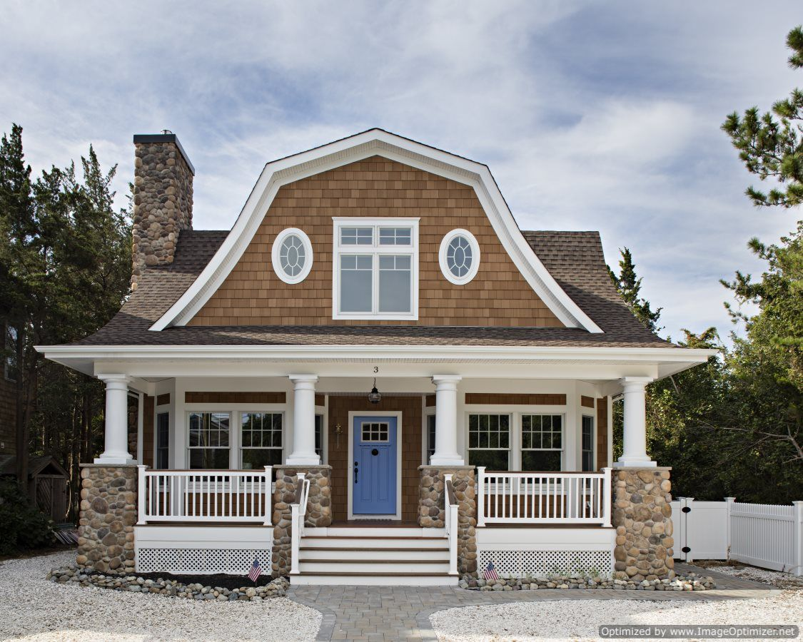 Beautiful coastal cottage with maintenance free materials