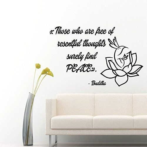 wall decals quotes those who are free of resentful thoughts surely