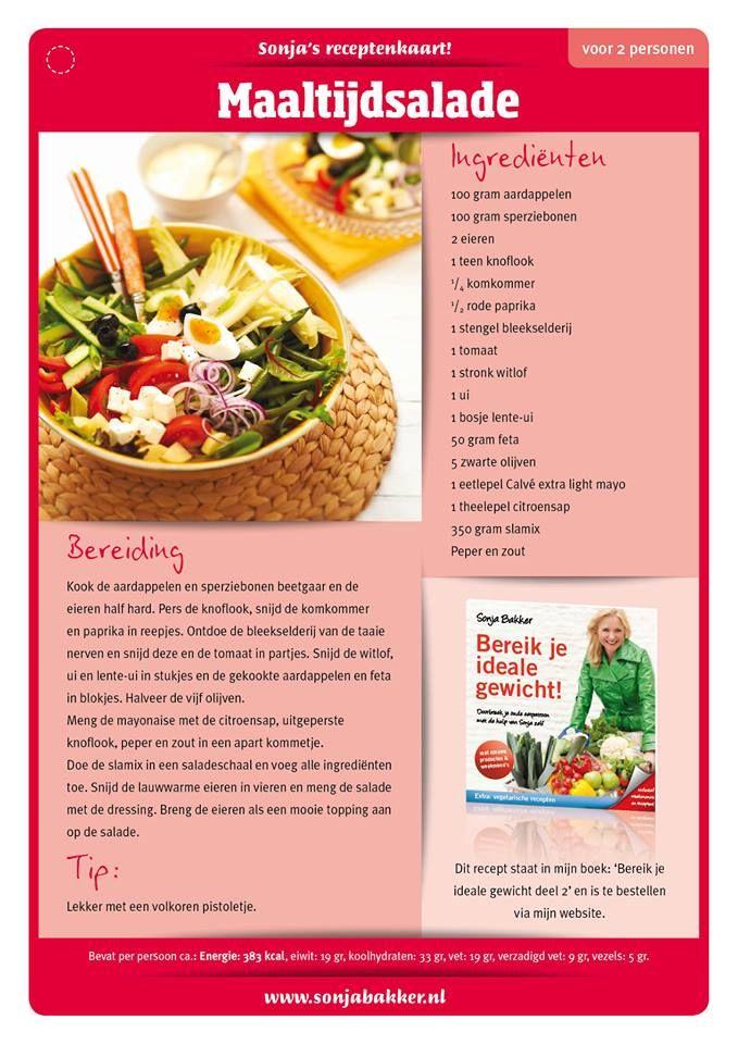 Maaltijdsalade Goed Vullende Salade Lekker Voedsel Ideeen Gezonde Recepten Beste Recepten