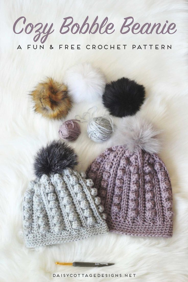 Bobble Beanie Crochet Pattern | Gorros, Ganchillo y Tejido