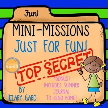 """June/ End of Year Activities! Fun critical thinking activities to get your kiddos out of their seats and working with their friends!  This bundle also includes a bonus """"Summer Journal!""""  Make a perfect end of the school year gift!"""