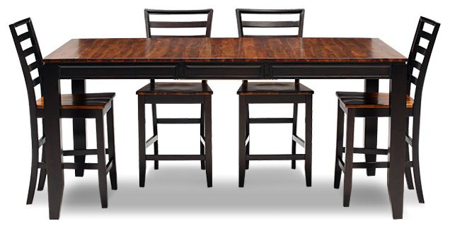 Oak Express Arcadia 5 Pc Counter Height Dining Group