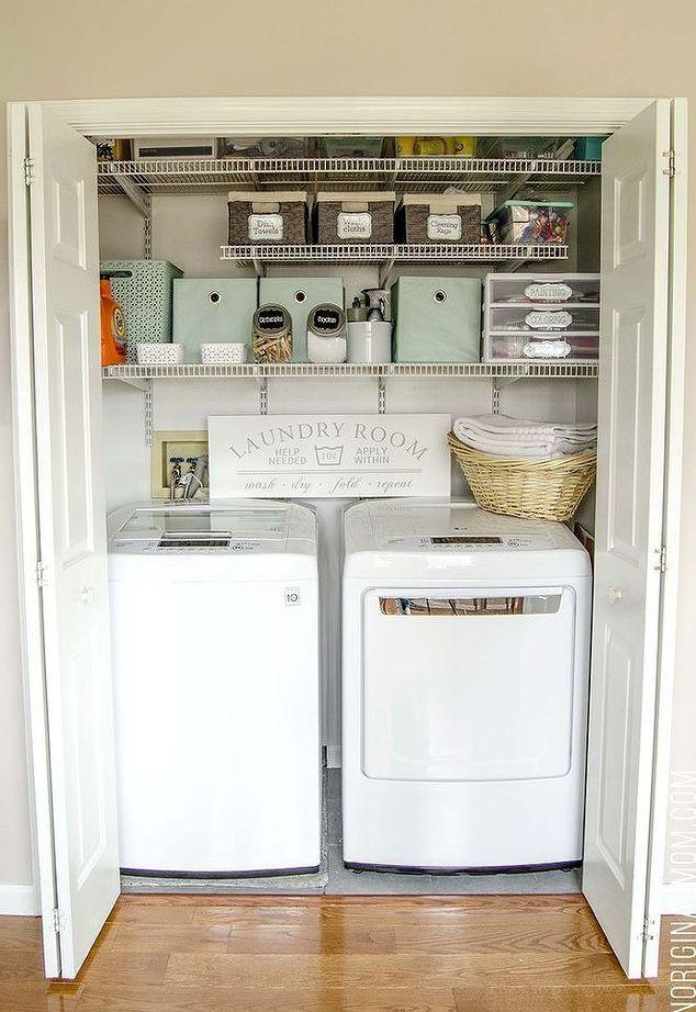 Laundry Closet Organization Laundry Closet Makeover Laundry