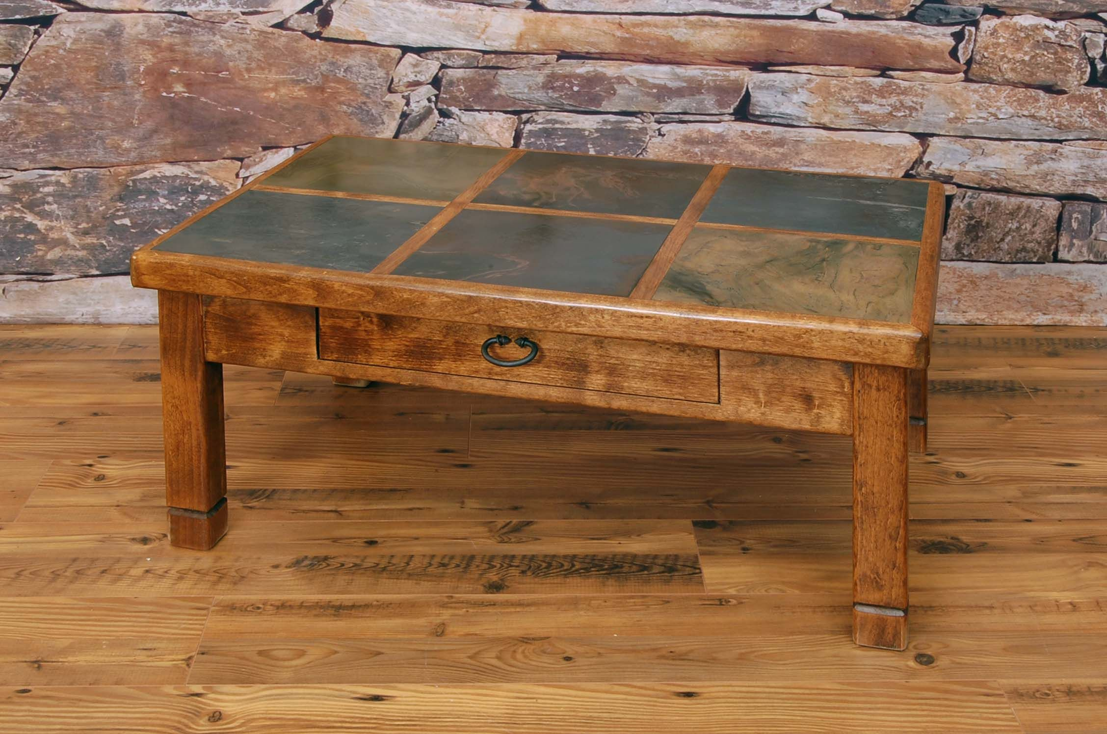 Wood And Slate Coffee Table Tables With Measurements 1555 X 830 Set A Little Is Ideal For