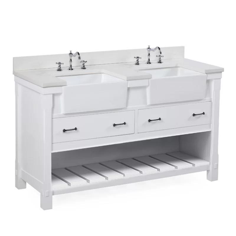 Nelia 61 Double Bathroom Vanity Set With Images Double Vanity