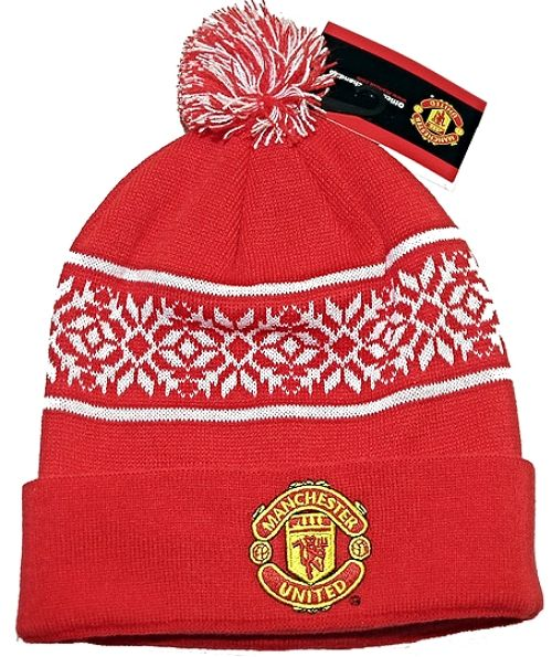 Manchester United Red White Snowflake Knitted Bronx With