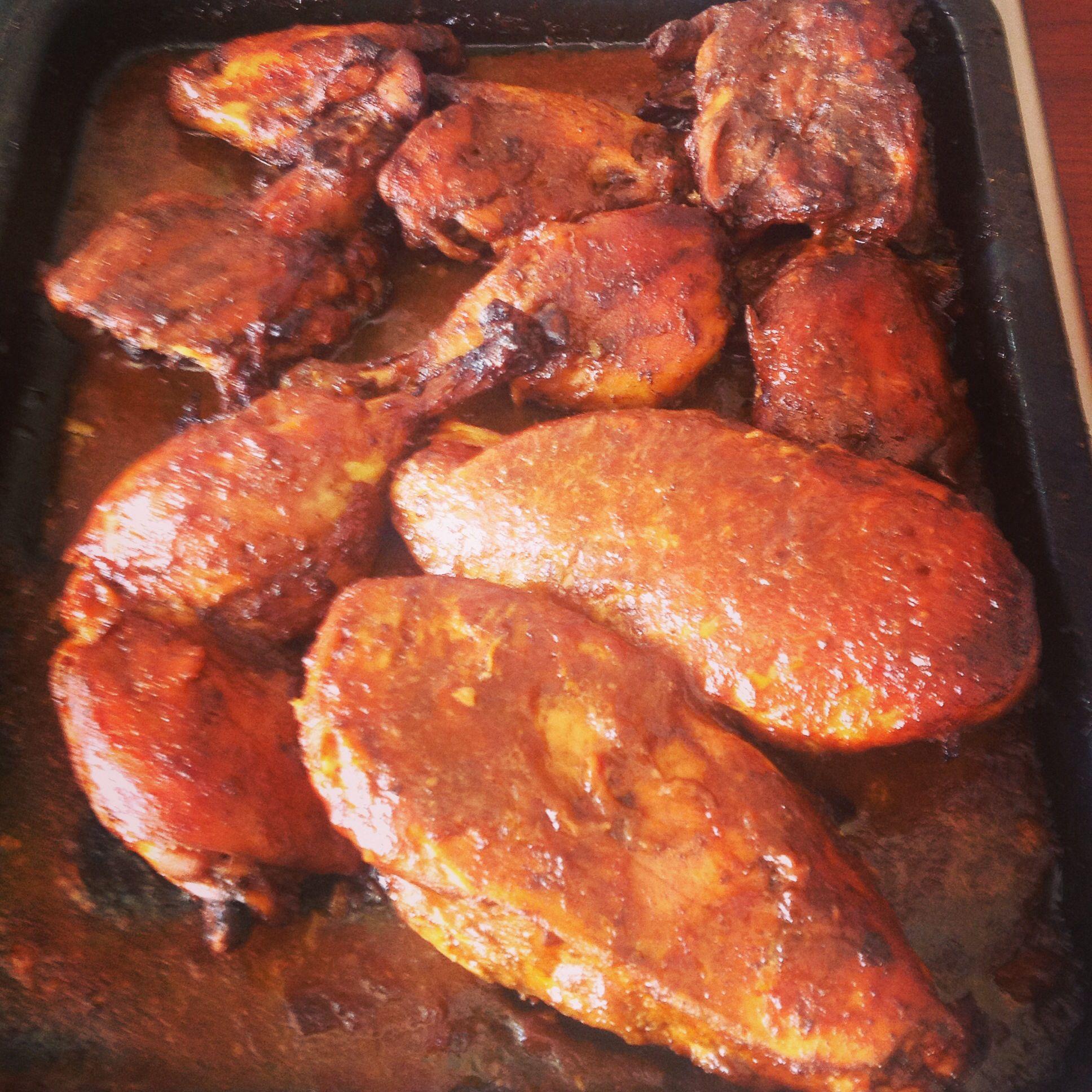 Pollo horneado estilo Hondureño