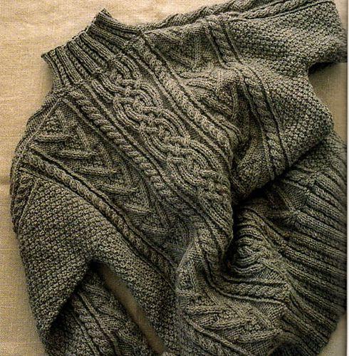 Ravelry: Aran Sweater/ アランセーター pattern by Chie Kose (小瀬 千枝)
