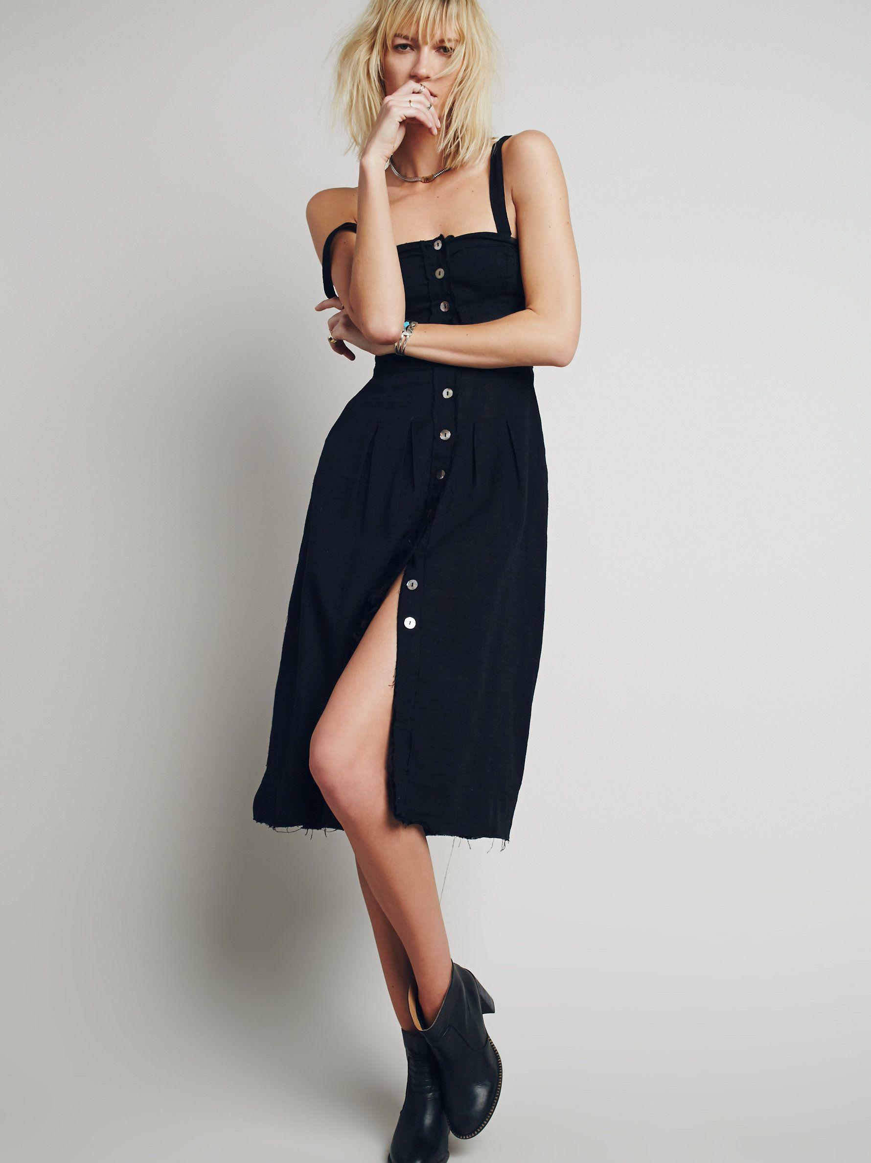 Girlfriend material dress easy breezy lightweight midi dress