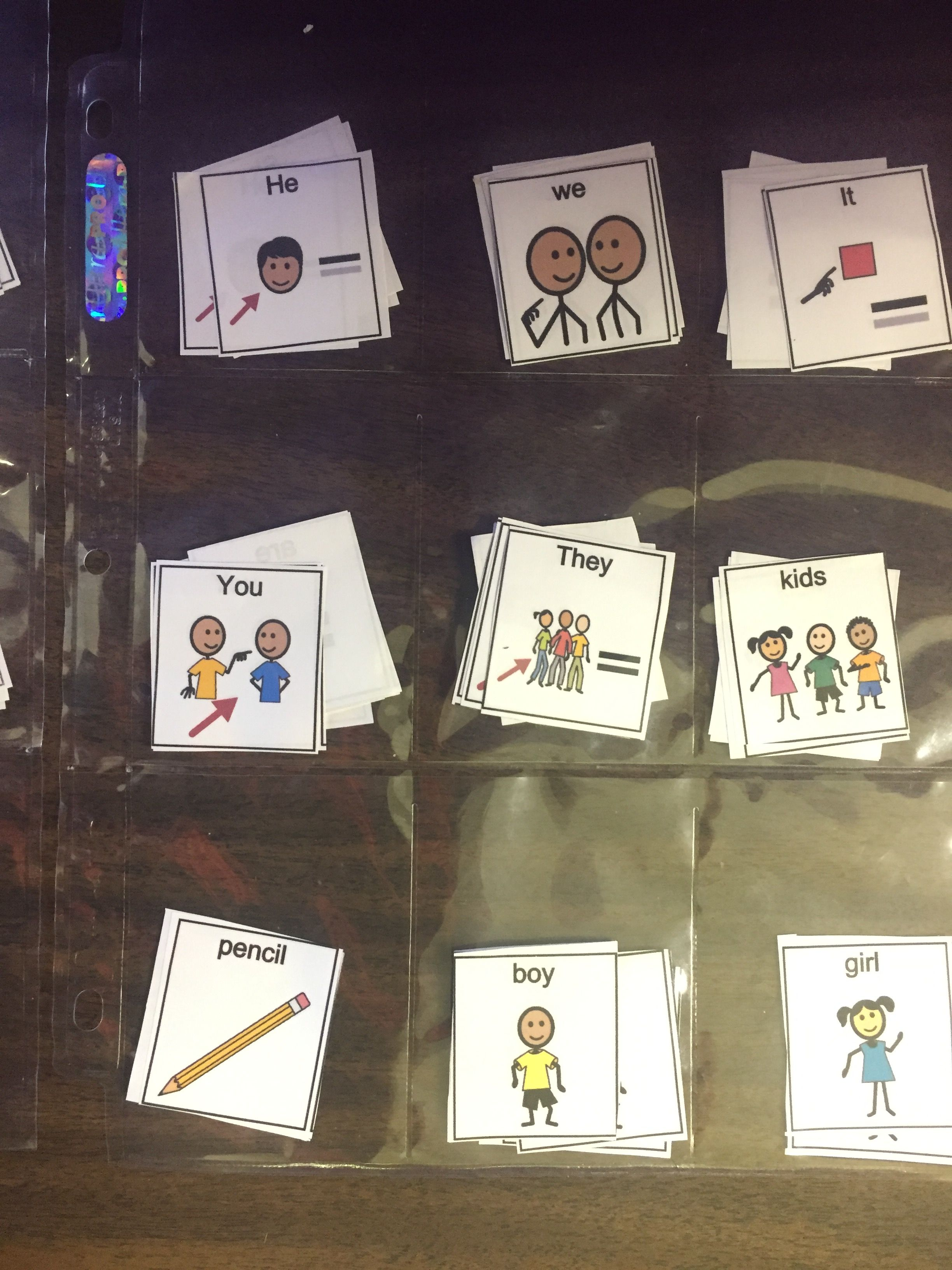 Use Baseball Card Holder Sheets To Organize Word Cards For