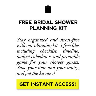 free bridal shower planning checklist on showerbelle