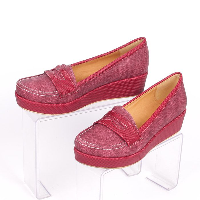 548149c440e Леки дамски обувки с платформа - 2 см. отпред, 4 см. отзад ...
