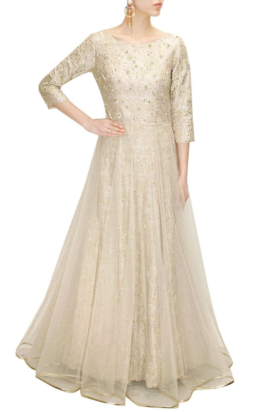 Stone rosette embroidered gown available only at Pernia\'s Pop-Up ...