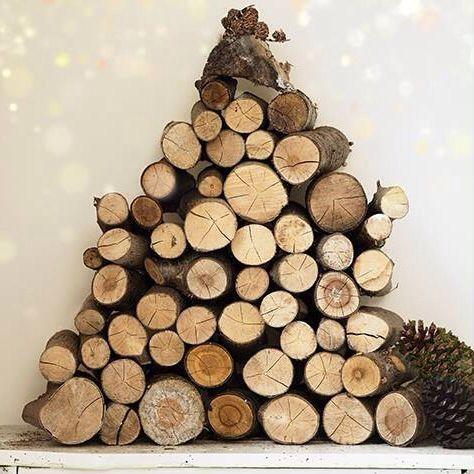 Log shape into tree