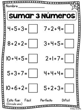 Sumando 3 Números De Spanish Giraffe Maestros Pagan Maestros Matematicas Primero De Primaria Matemáticas De Primer Grado Problemas Matemáticos