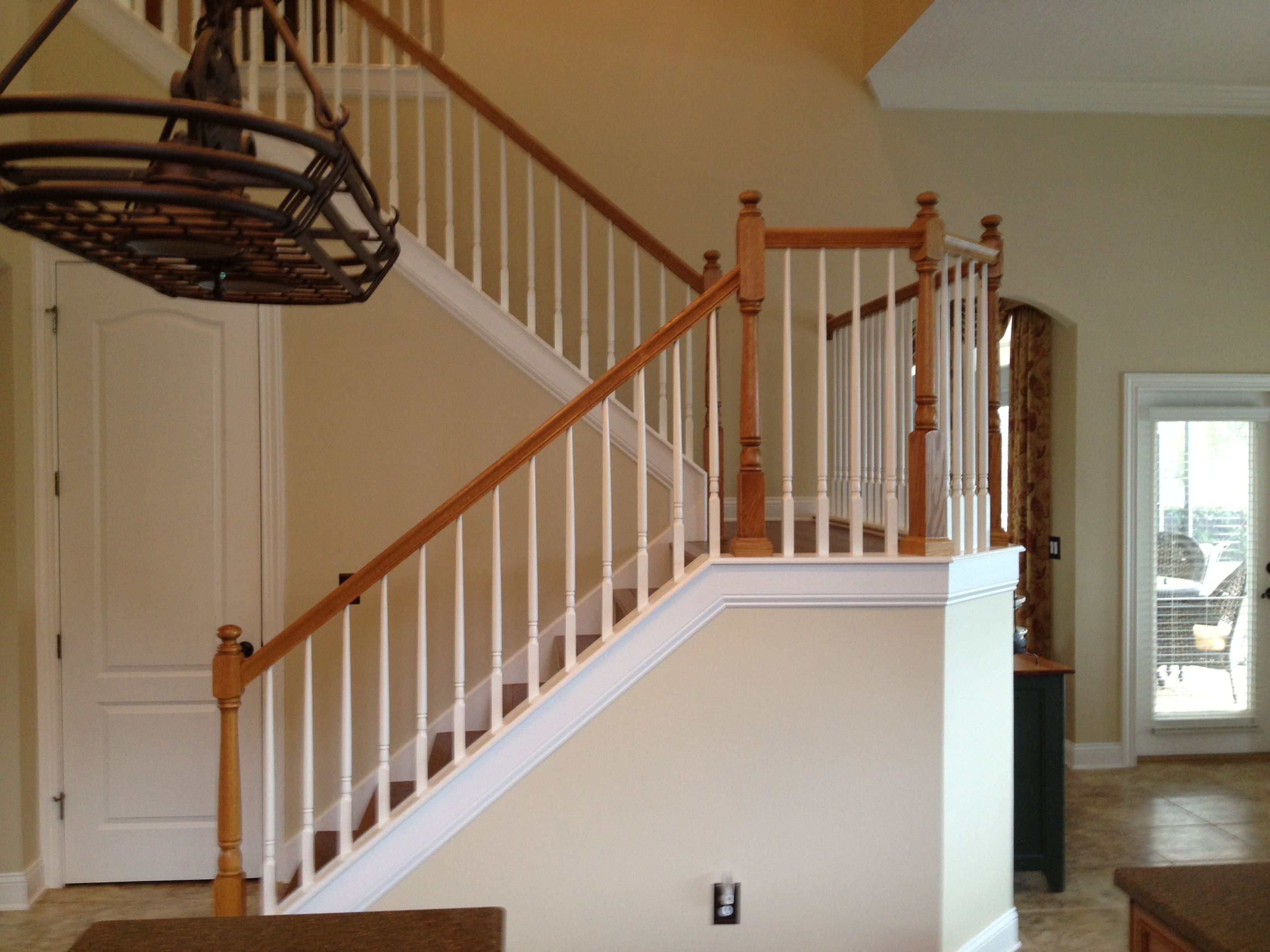 wooden banisters