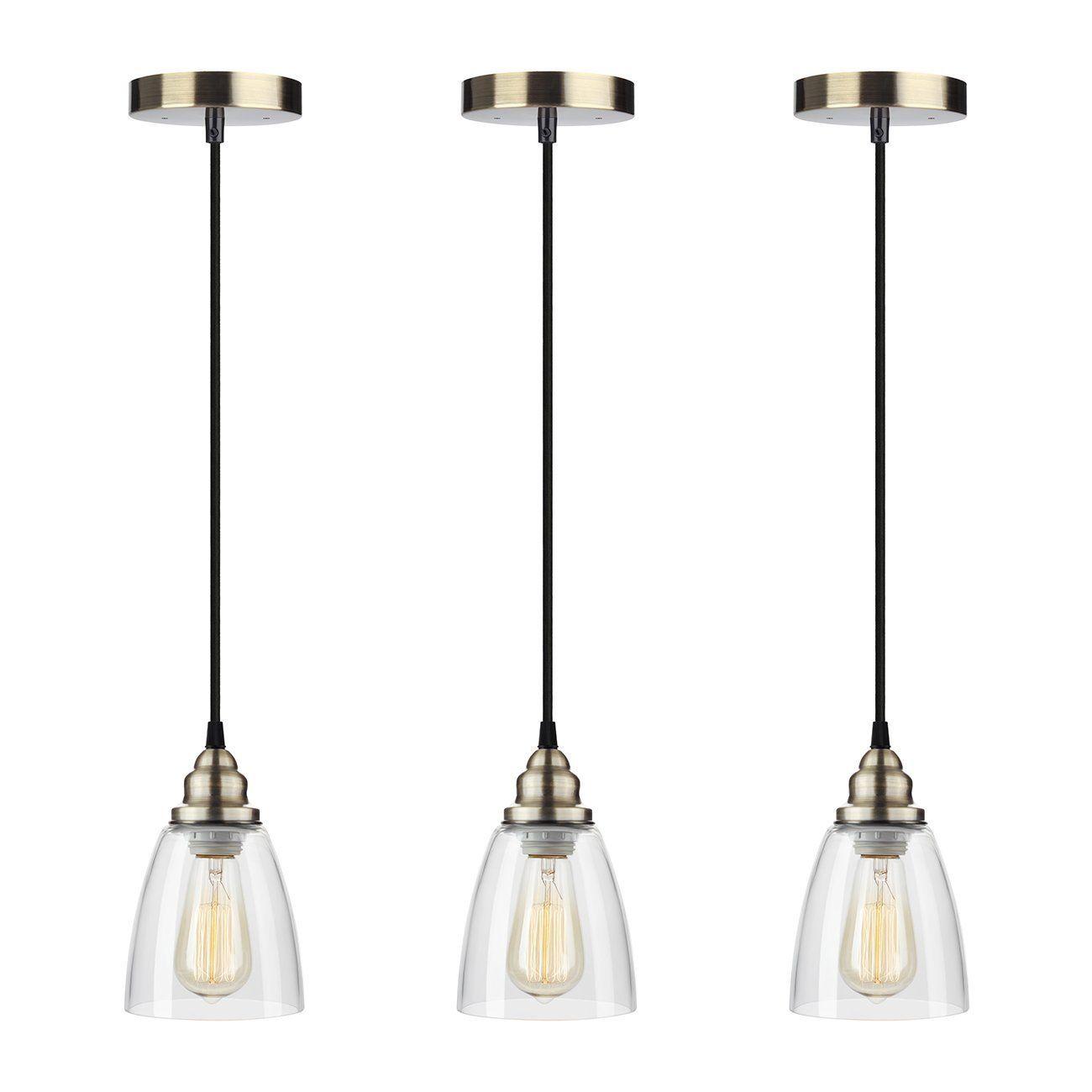 Industrial edison mini glass light pendant hanging lamp fixture