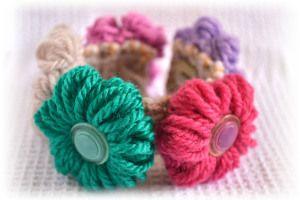 Puff stitch bracelet