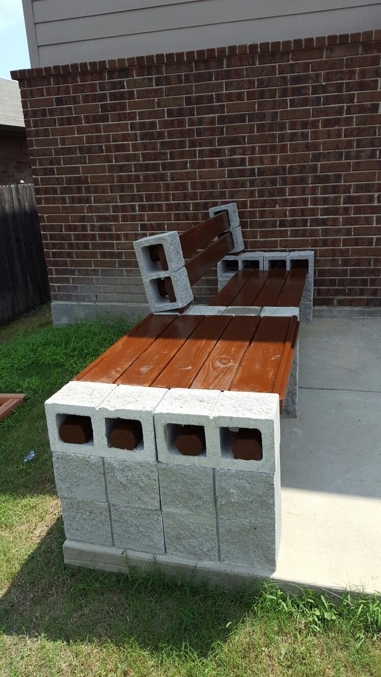 Design Cinder Block Bench cinder block bench with side table ideas table