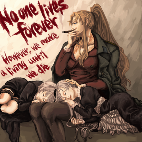 black lagoon vampire twins | Balalaika, Hansel, and Gretel