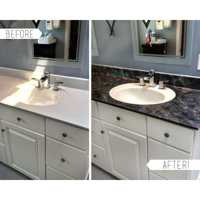 Giani Granite Countertop Paint Process Before And After Using The