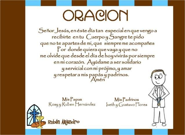 Album Primera Comunion Niño Opina Oraciones Primera