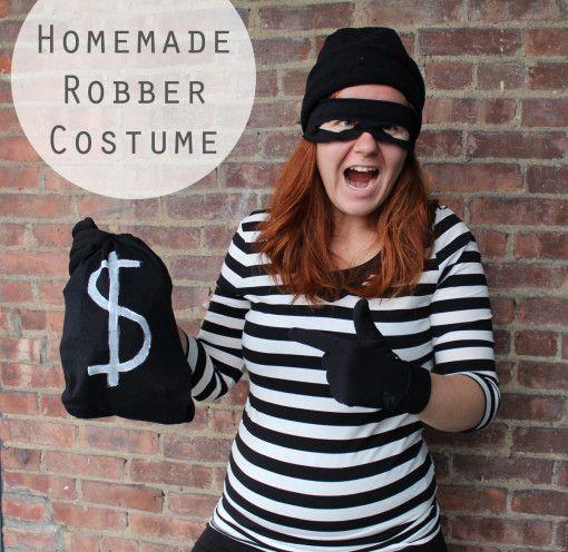 Easy Homemade Robber Costume // For Guys Or Gals | Halloween | Pinterest | Robber Costume ...
