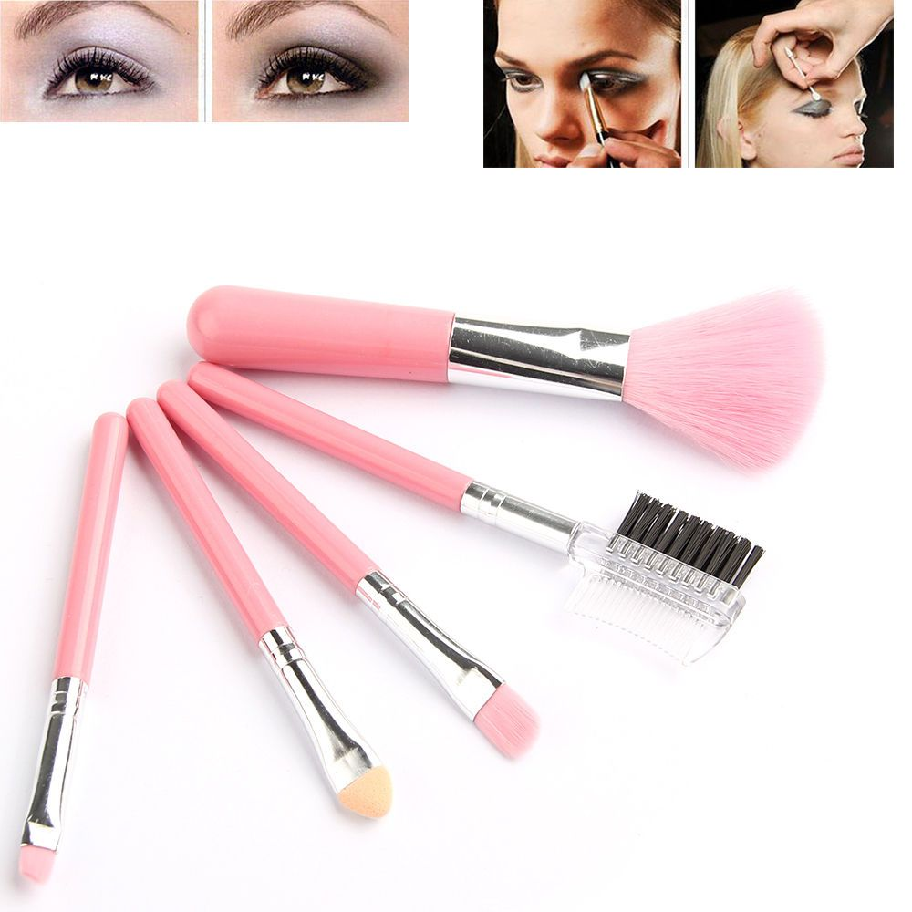 Find More Makeup Brushes Tools Information About Fashion Mini 5pcs Pink Makeup Brushes Cosmet Makeup Brush Set Pink Makeup Brush Too Faced Lipstick