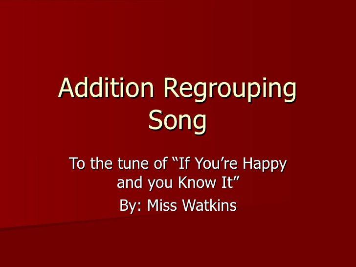 Regrouping song