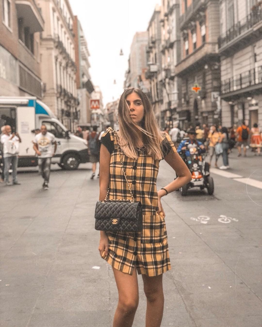 04fee58c0 Women's Outfit Inspiration | Lazy Oaf Yellow Check Pinafore Dress | Urban  Outfitters | Women's