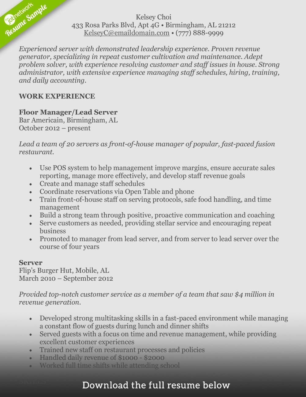 Front Of House Manager Resume Best Of How to Write A