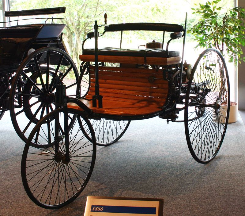 1885-built Benz Patent-Motorwagen, the first car to go into ...