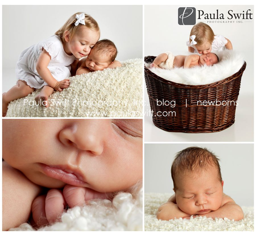 Boston Newborn Photographer - 18 month old and her new baby brother  www.paulaswift.com