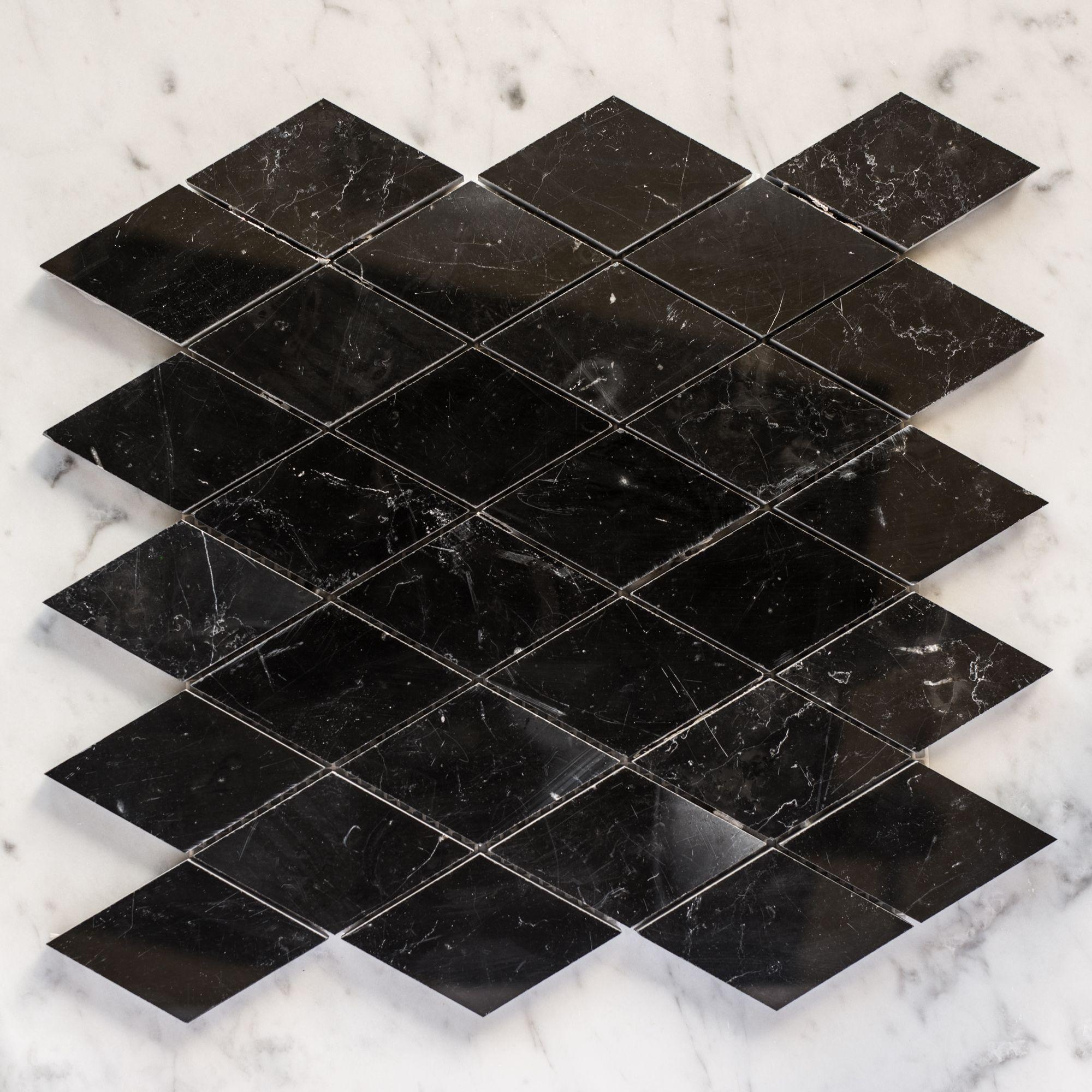 Designer Marble Nero Marquina Diamond Mosaic