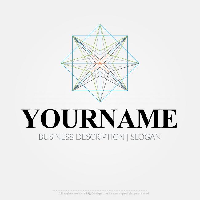 Online Free Logo Maker Geometrical Logo Design