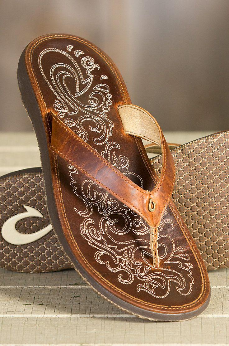 Womens Olukai Paniolo Leather Sandals  Style, Beauty -7244