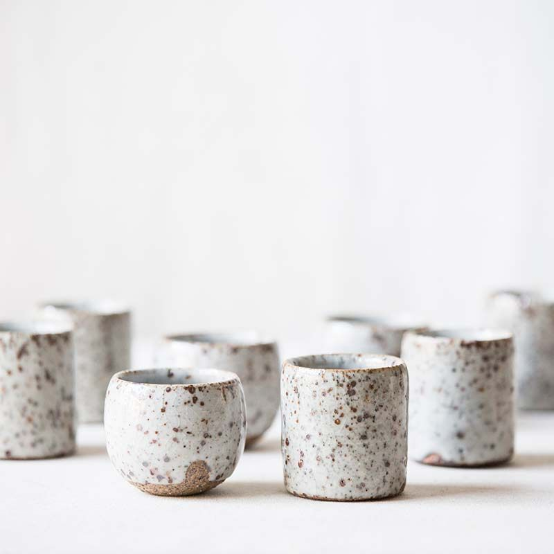 Oatmeal Shino Glaze Teacup With Images Ceramics Ideas Pottery