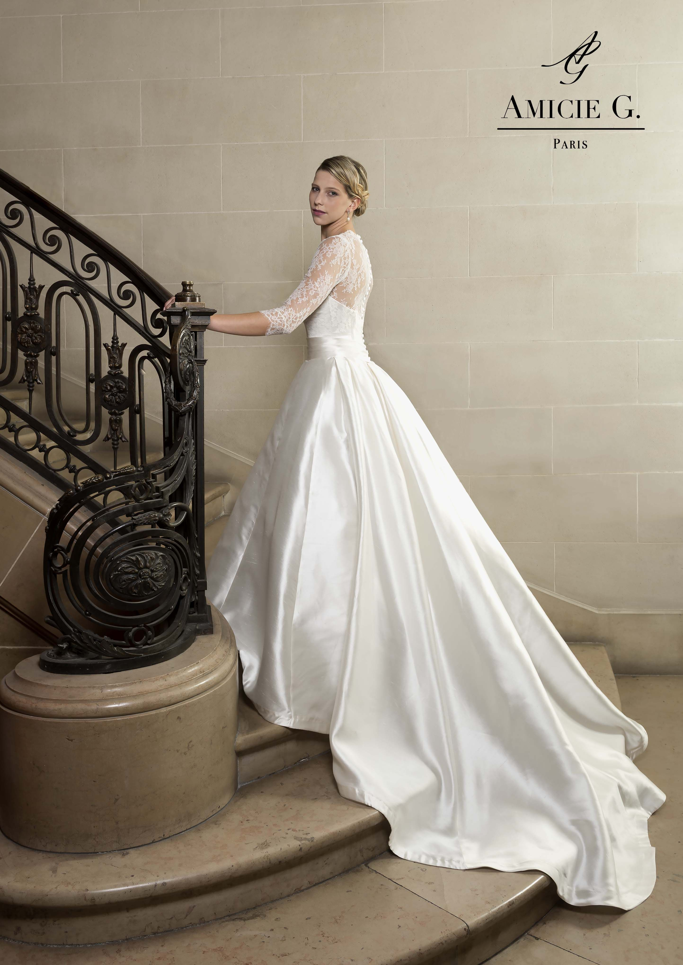 Amicie G. robe Chambord robe de mariée princesse